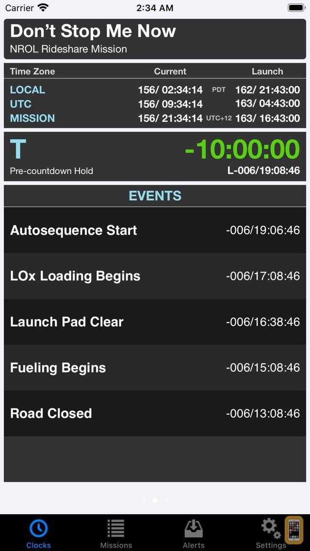 Screenshot - MissionClock