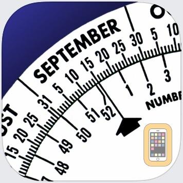 Date Wheel date calculator by Creative Algorithms (iPhone)