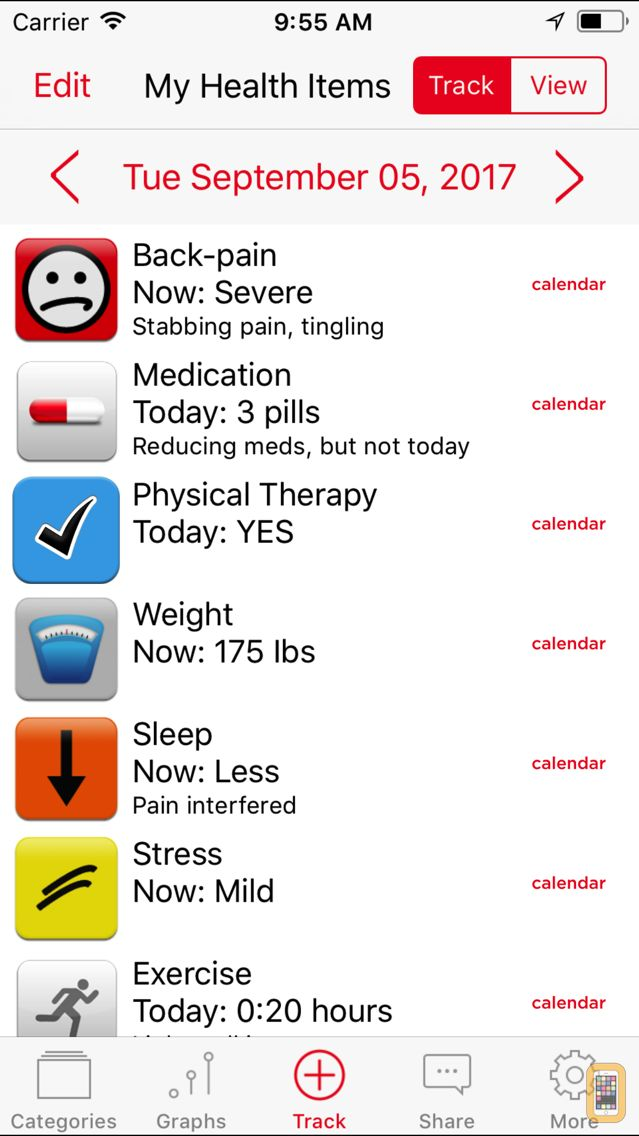 Screenshot - Symptom Tracker by TracknShare