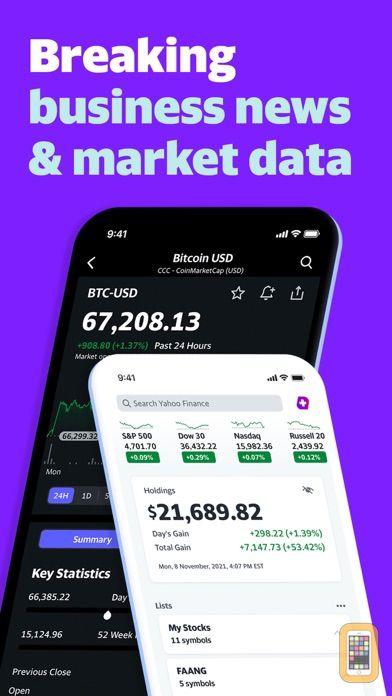 Screenshot - Yahoo Finance