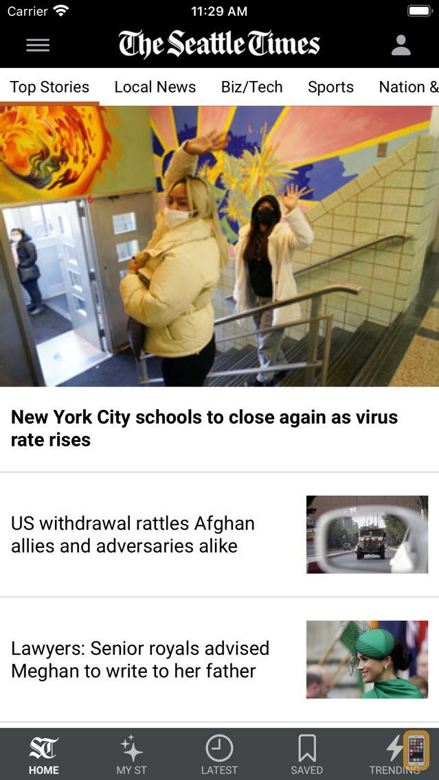 Screenshot - Seattle Times Mobile