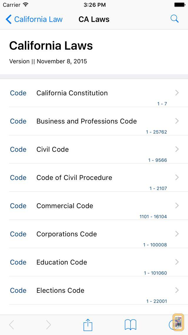 Screenshot - California Law (LawStack Series)