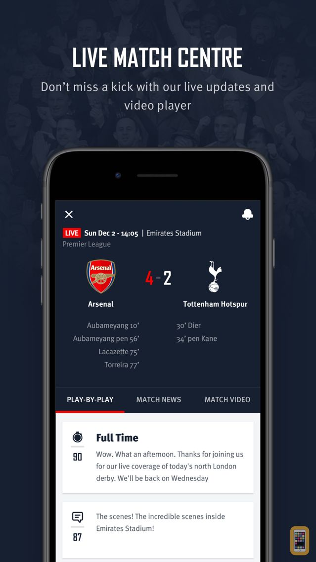 Screenshot - Arsenal Official App