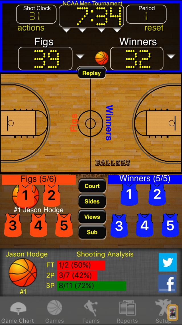 Screenshot - Ballers Basketball Stats