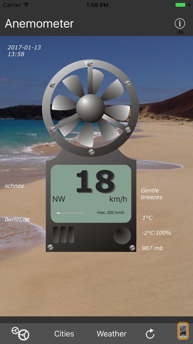 Screenshot - Anemometer