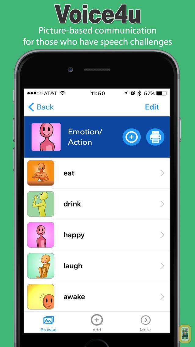 Screenshot - Voice4u AAC - Picture-based communication board