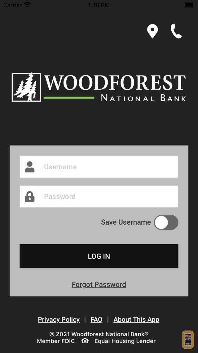 Screenshot - Woodforest Mobile Banking