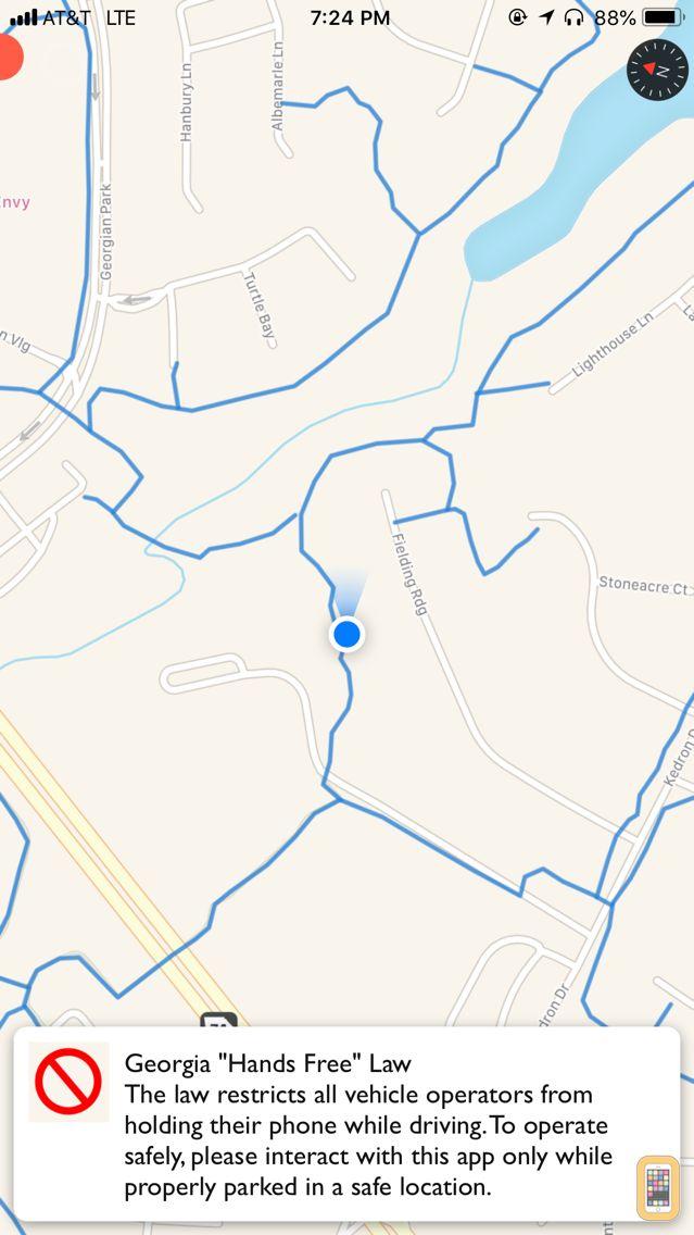 Screenshot - Peachtree City Cart Paths