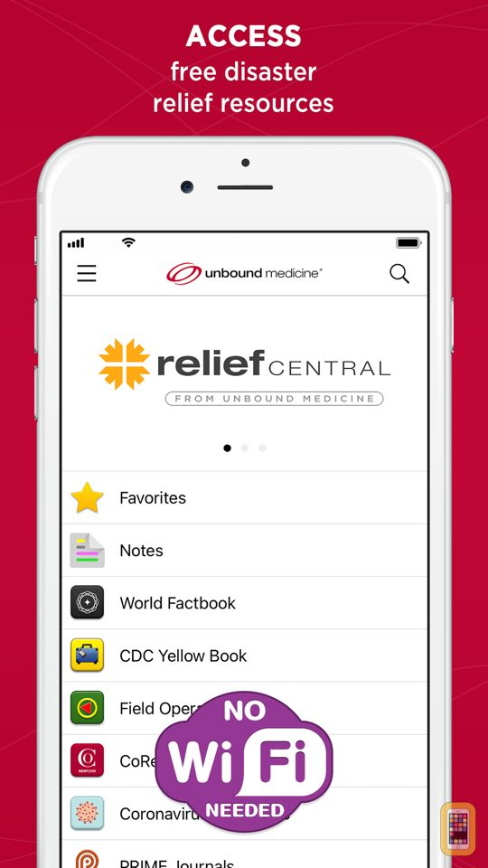 Screenshot - Relief Central | COVID-19