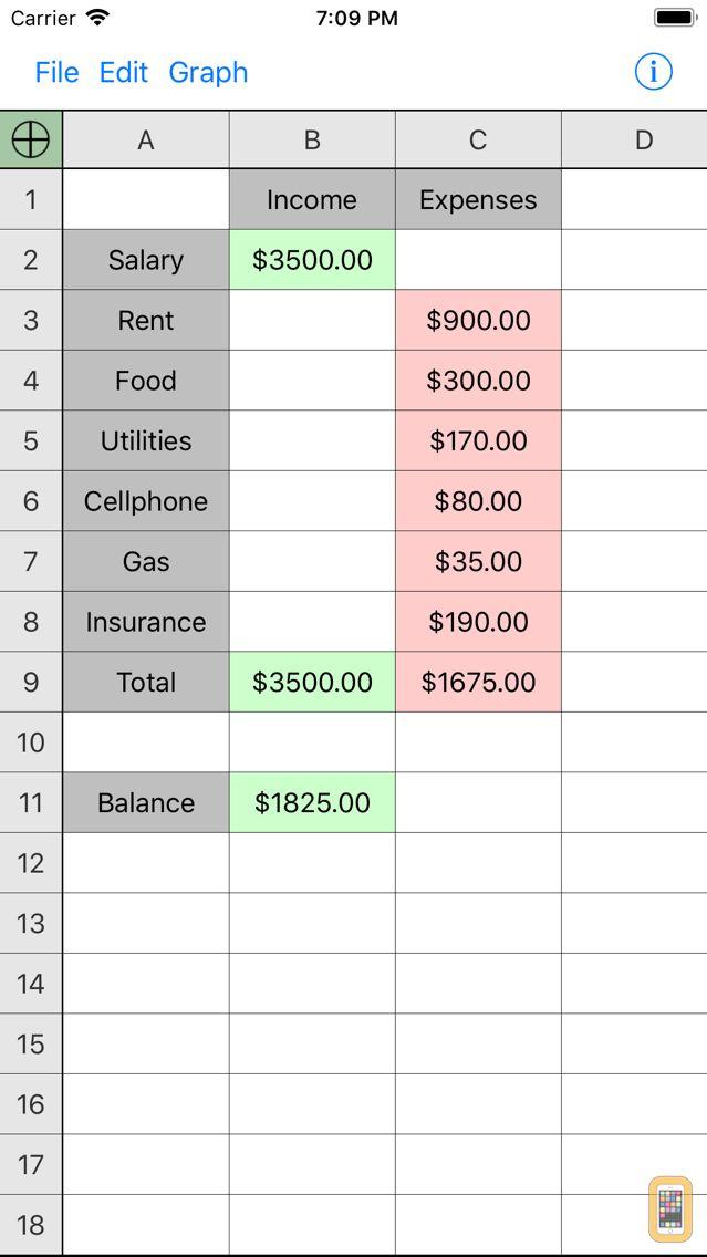 Screenshot - Utility Spreadsheet Pro
