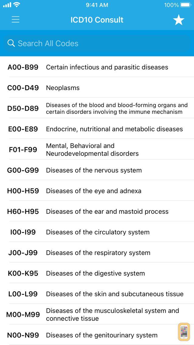 Screenshot - ICD10 Consult