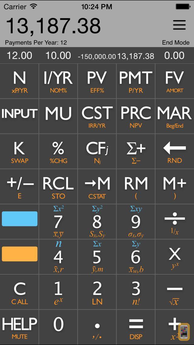 Screenshot - 10bii Financial Calculator