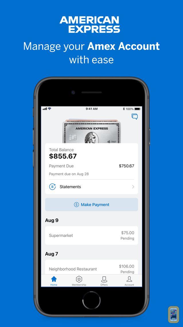 Screenshot - Amex