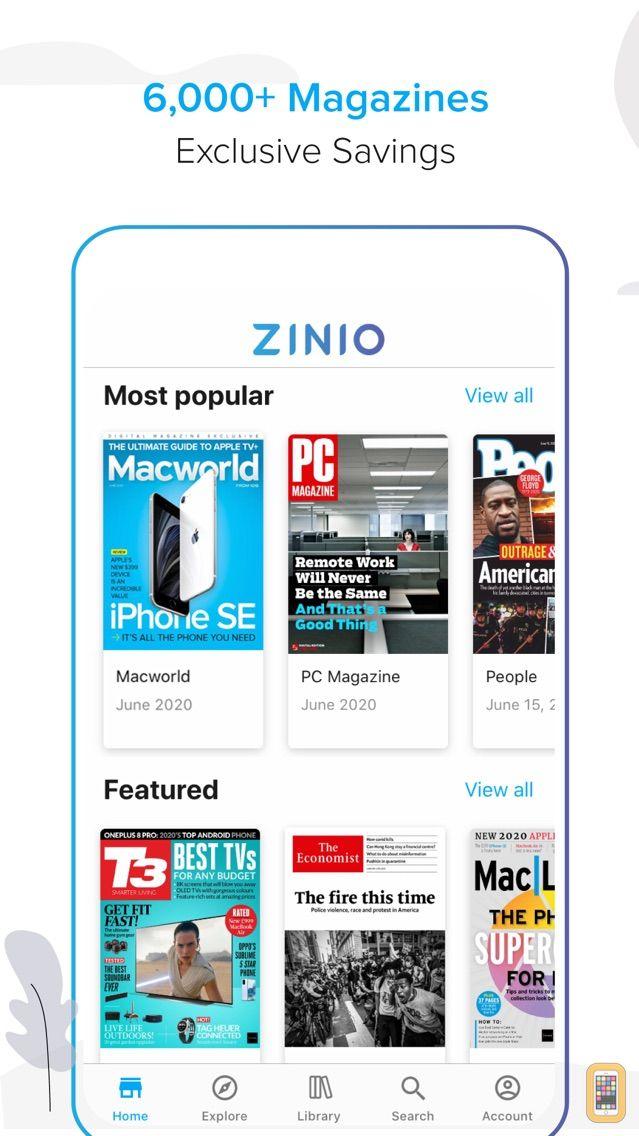 Screenshot - ZINIO - Magazine Newsstand