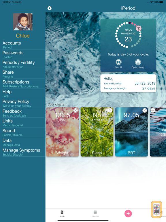 Screenshot - iPeriod Period Tracker HD +