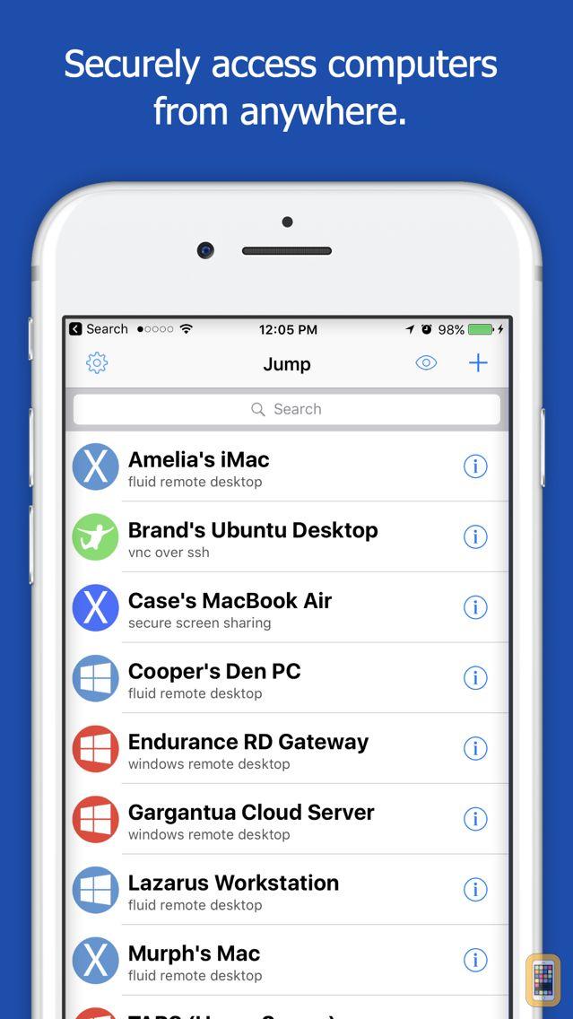 Screenshot - Jump Desktop (RDP, VNC, Fluid)