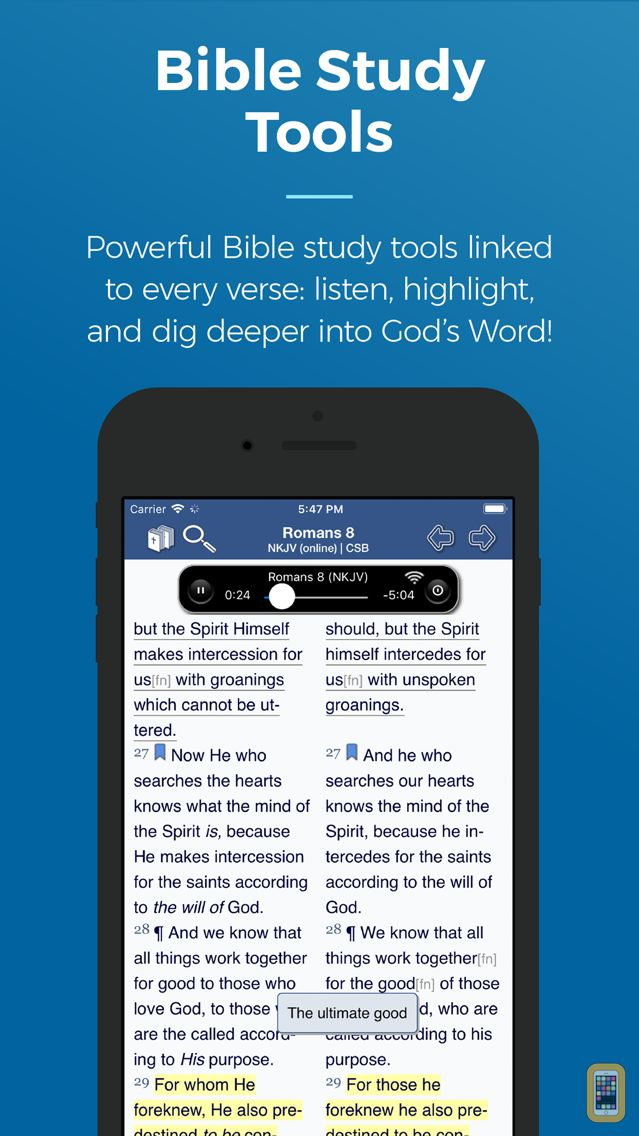 Screenshot - Blue Letter Bible