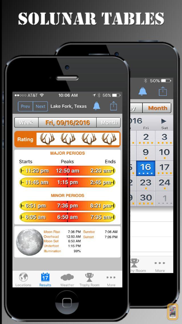 Screenshot - iSolunar™ Hunt & Fish Times