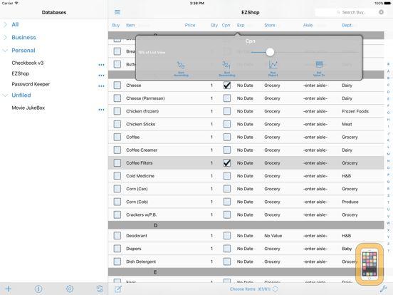 Screenshot - HanDBase for iPad