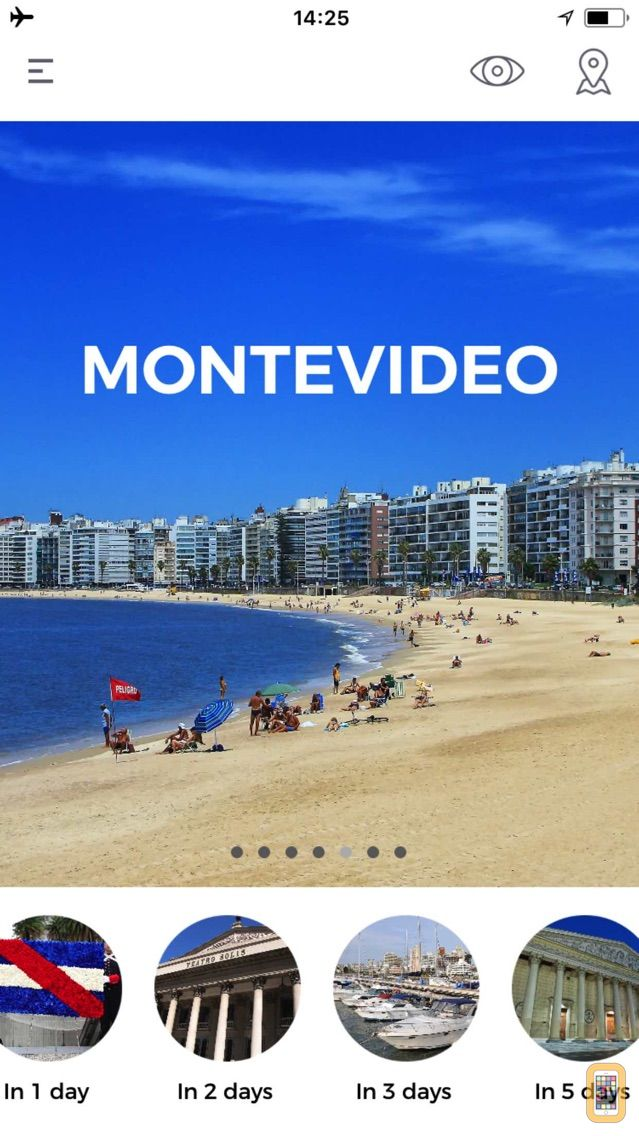 Screenshot - Montevideo Travel Guide - Augmented Reality with Street and Transport Map 100% Offline - Tourist Advisor for your trip to the city
