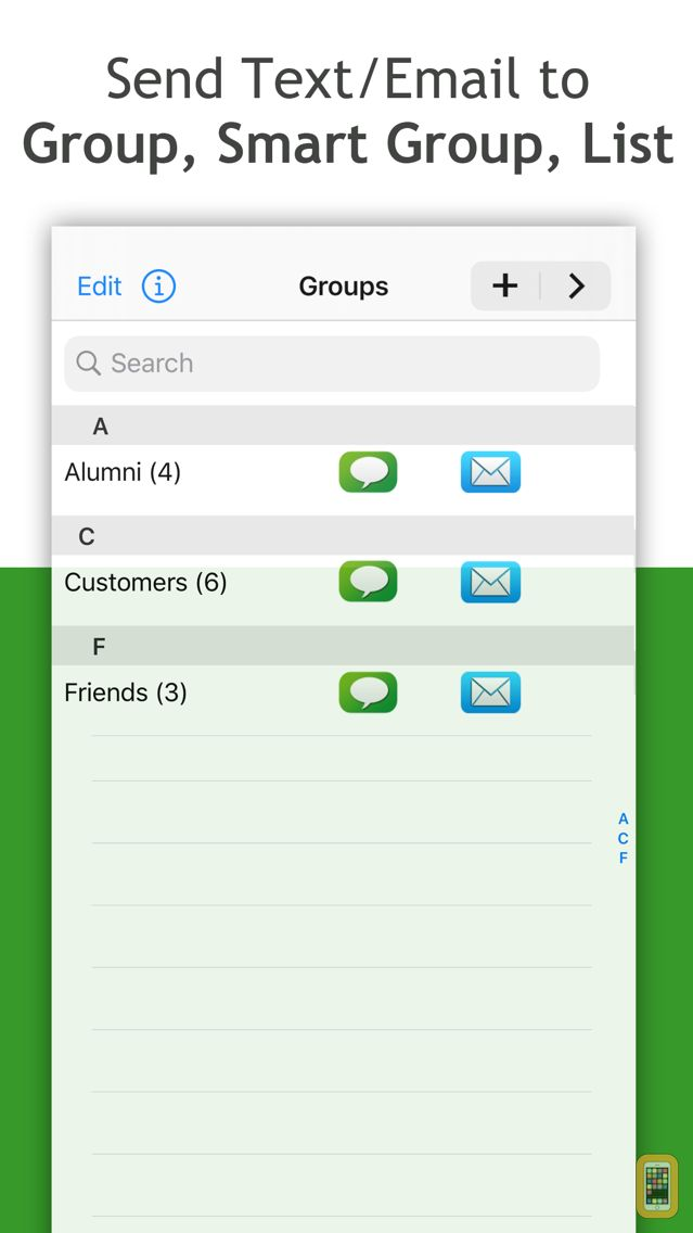 Screenshot - Smart Group: Email, SMS/Text