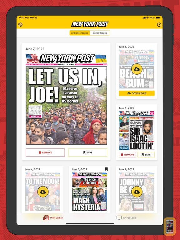 Screenshot - New York Post for iPad