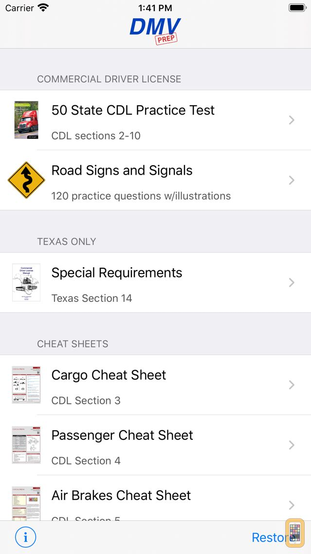 Screenshot - CDL Test Prep Pro (Commercial Driver's License)