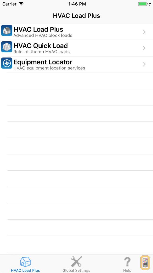 Screenshot - HVAC Load Plus