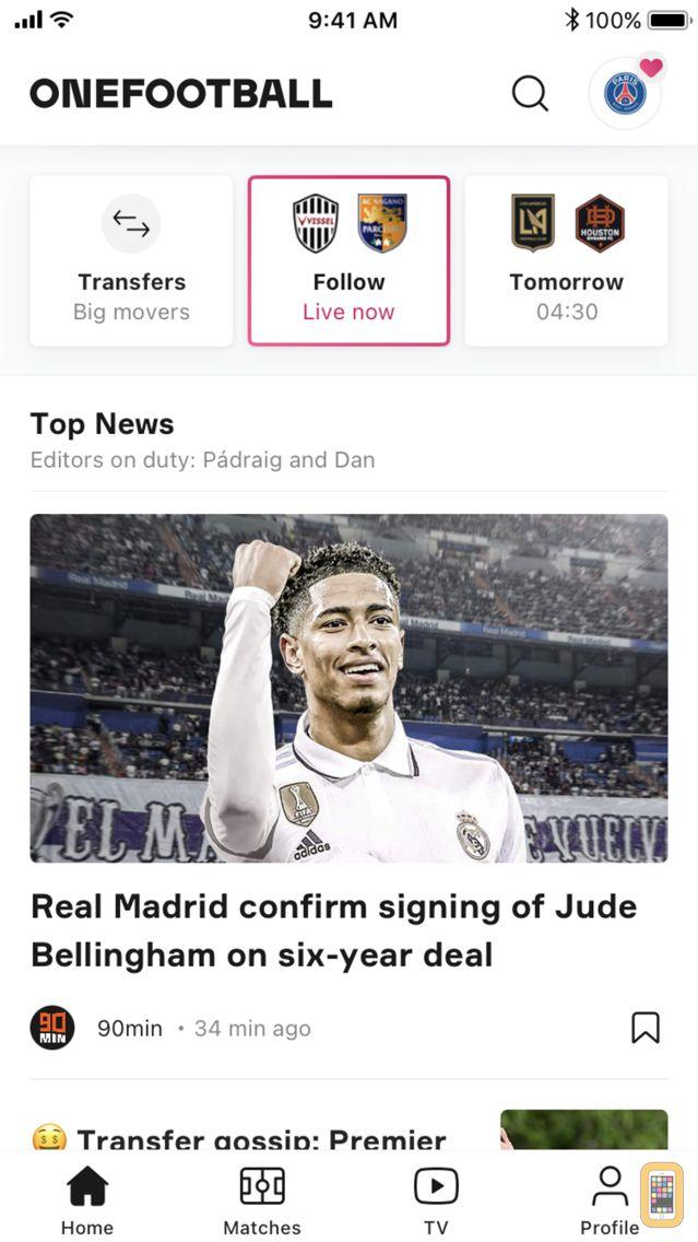 Screenshot - OneFootball - Soccer News