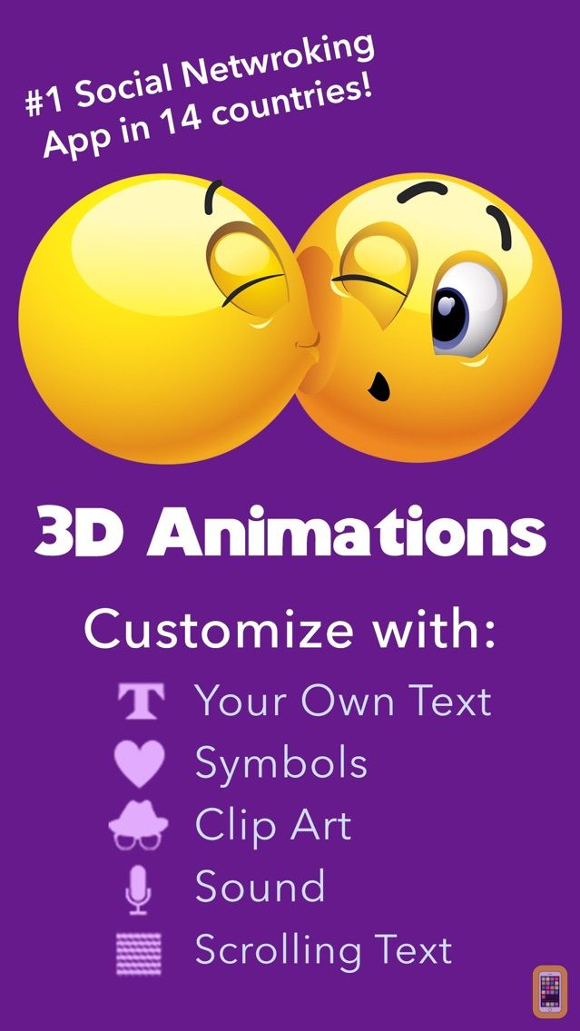 Screenshot - Fun Animations for MMS Text Messaging - 1 MILLION 3D Animated Emoticons