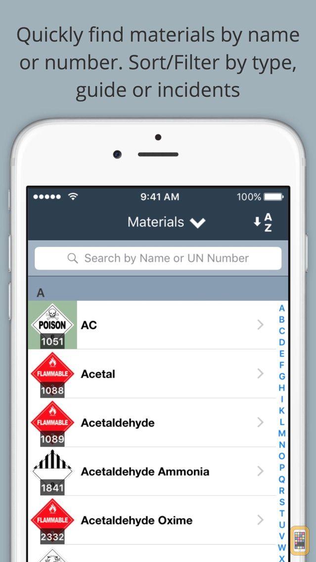 Screenshot - HazMat Reference and Emergency Response Guide