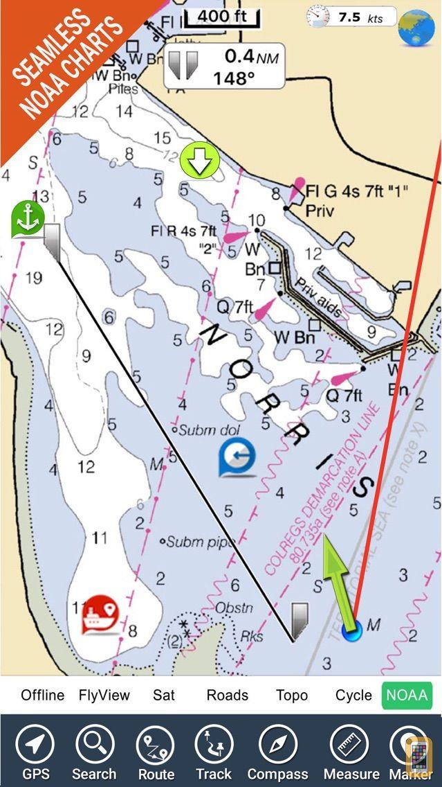 Screenshot - Florida Nautical Charts GPS HD