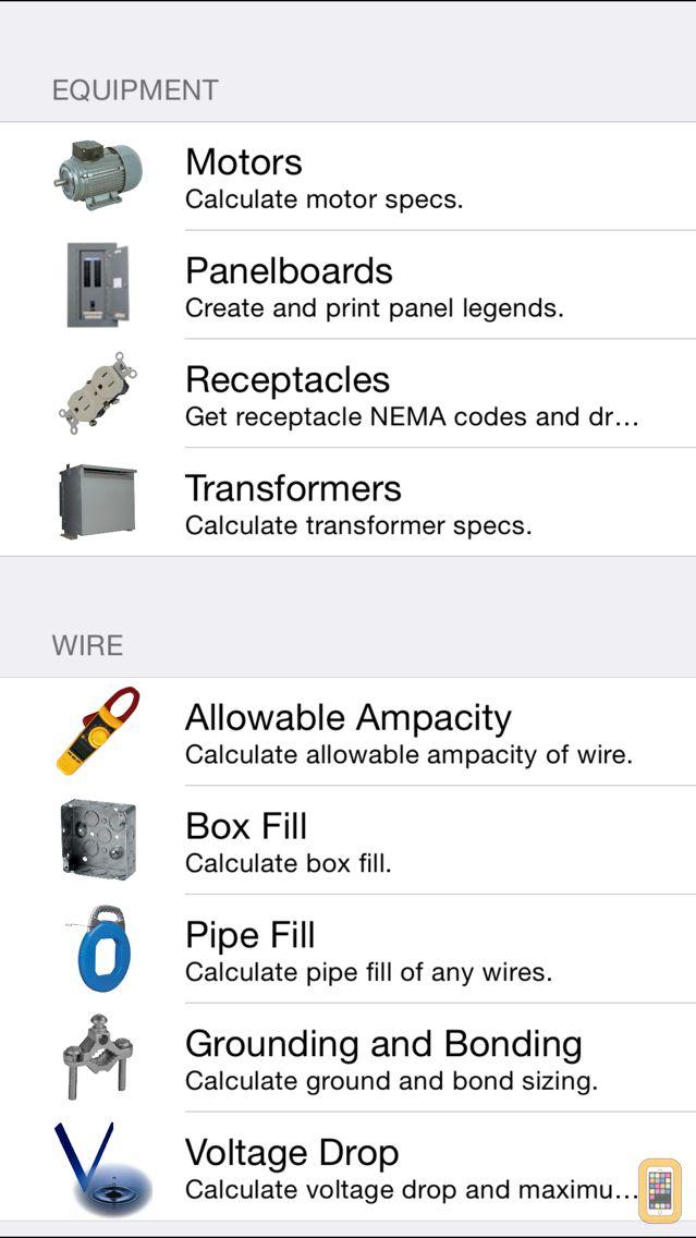 Screenshot - Electrical Calc USA