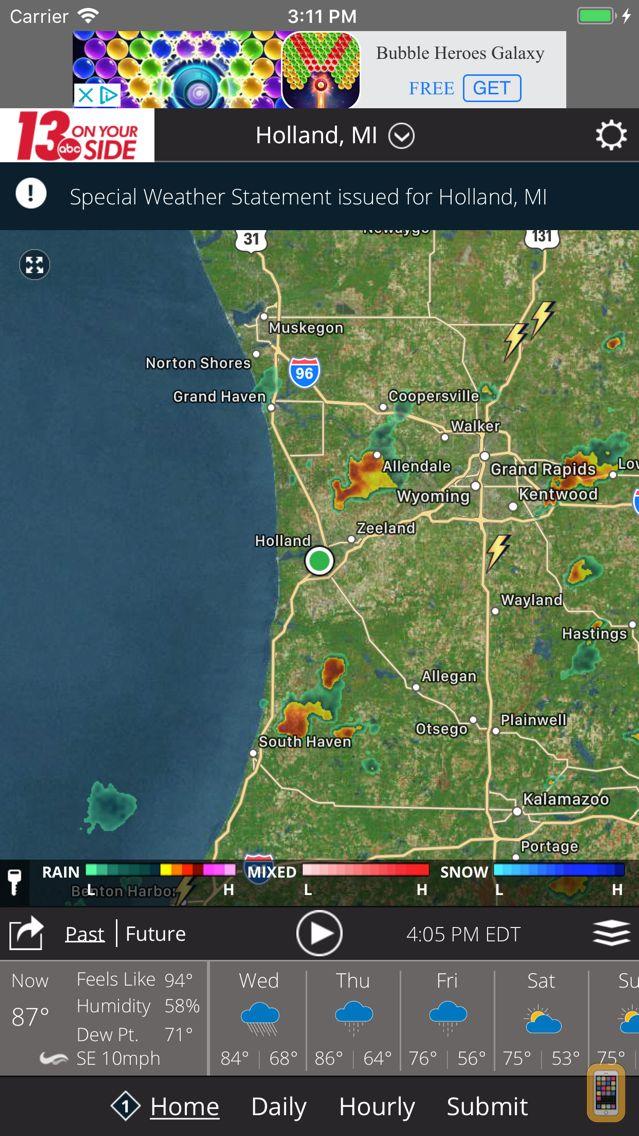 Screenshot - WZZM 13 Weather
