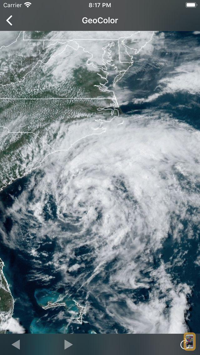 Screenshot - NOAA Hurricane Center