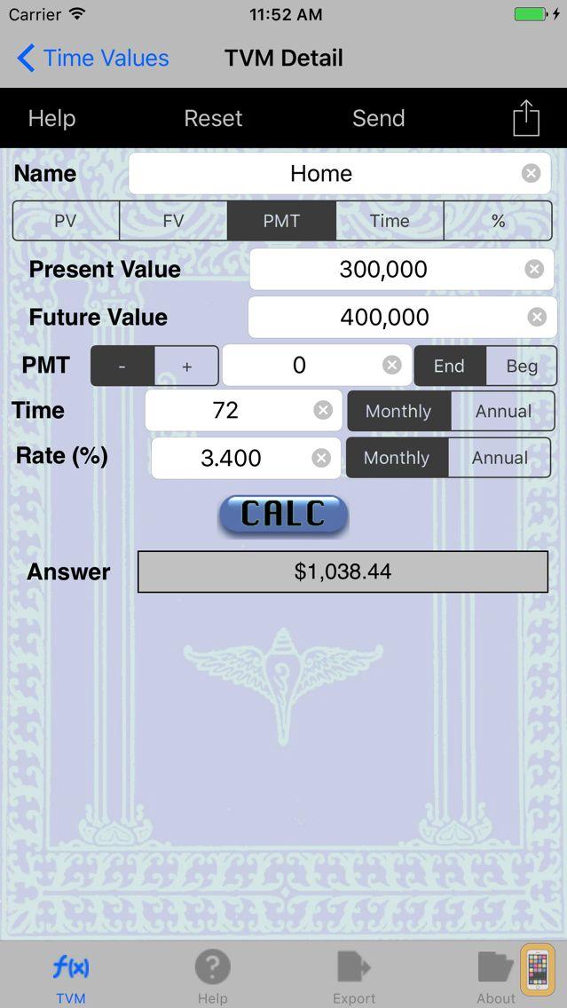 Screenshot - TVM: Time Value of Money