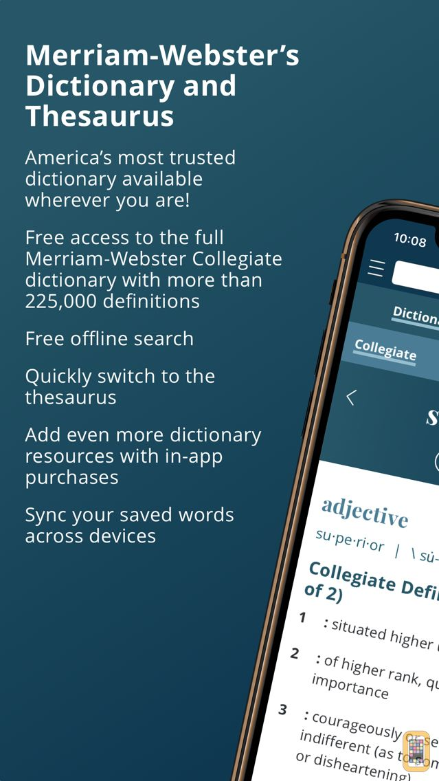Screenshot - Merriam-Webster Dictionary