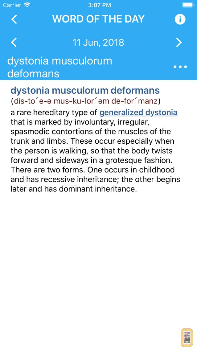 Screenshot - Dorland's Medical Dictionary