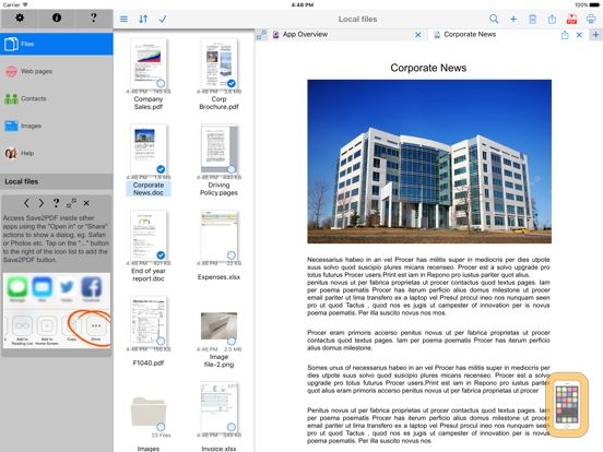 Screenshot - Save2PDF