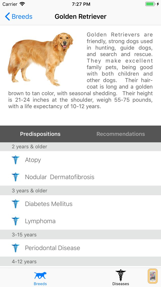 Screenshot - Breed Health for Dogs