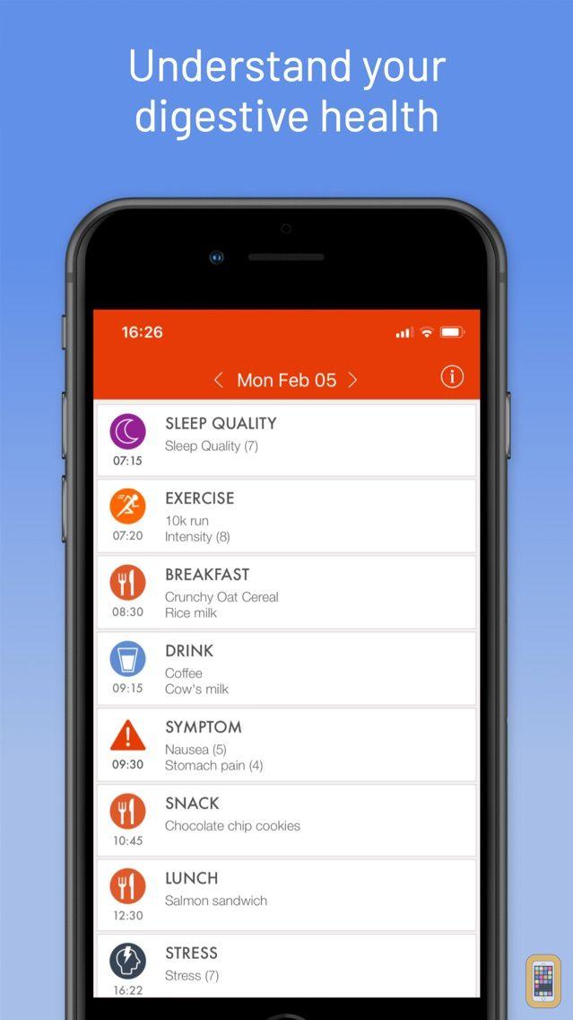Screenshot - mySymptoms Food Diary