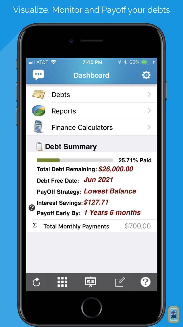Screenshot - Debt Free - Pay Off your Debt With Debt Snowball Method