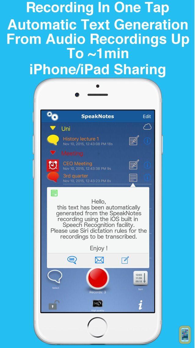 Screenshot - SpeakNotes