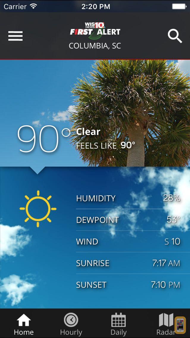 Screenshot - WIS News 10 FirstAlert Weather