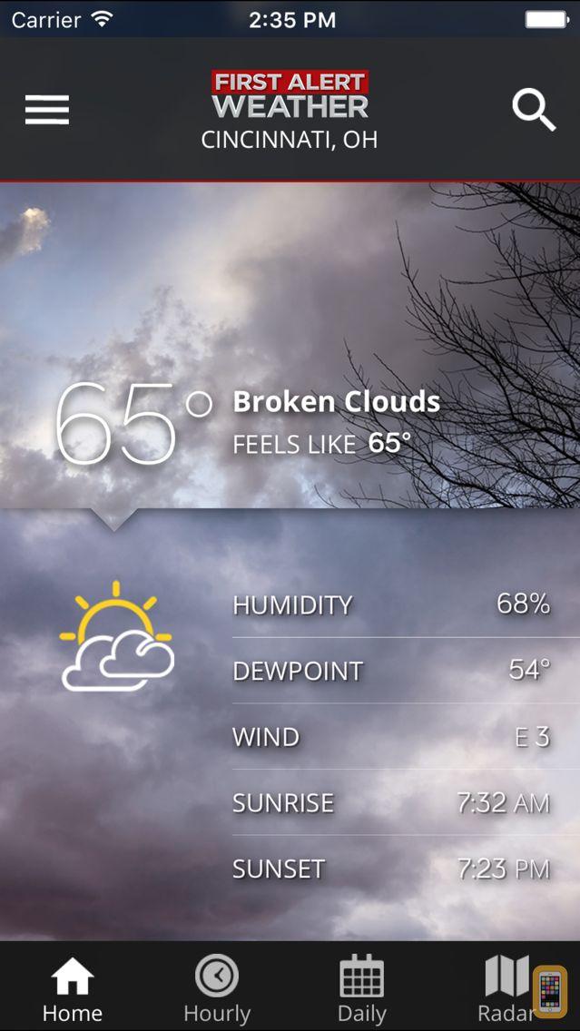 Screenshot - FOX19 First Alert Weather