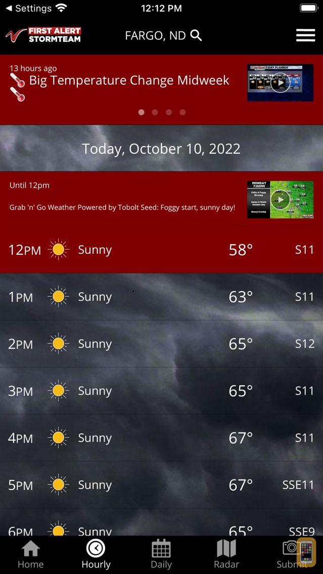 Screenshot - VNL Weather