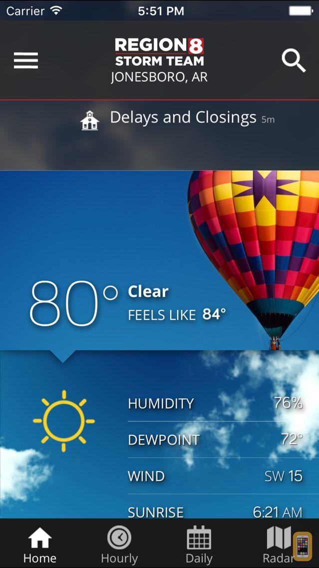 Screenshot - KAIT Region 8 Weather