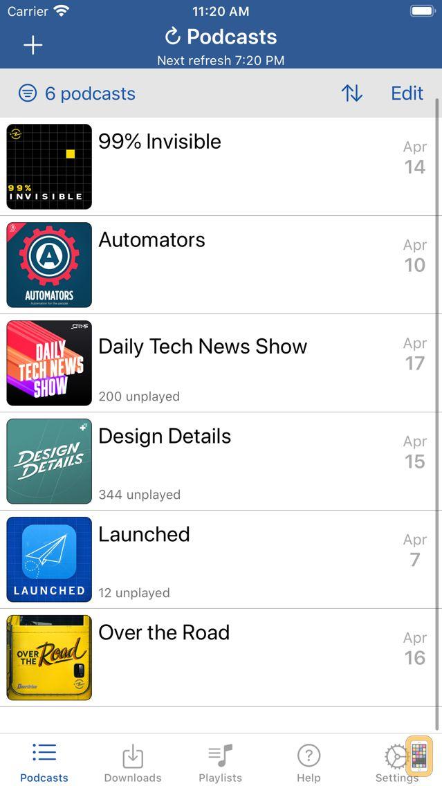 Screenshot - iCatcher! Podcast Player