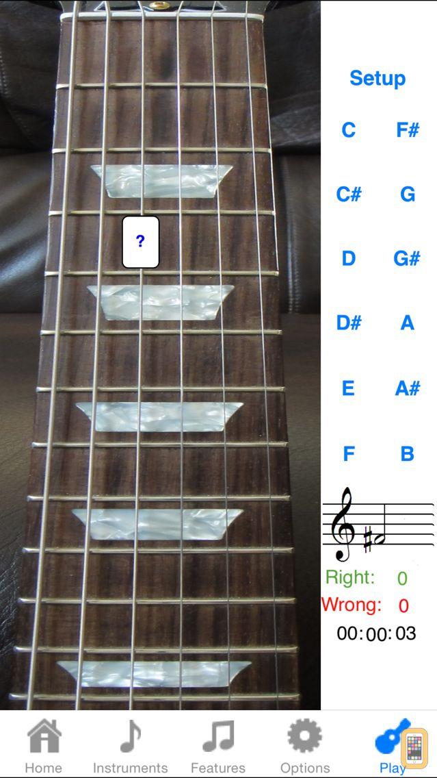 Screenshot - Electric Guitar Fret Addict