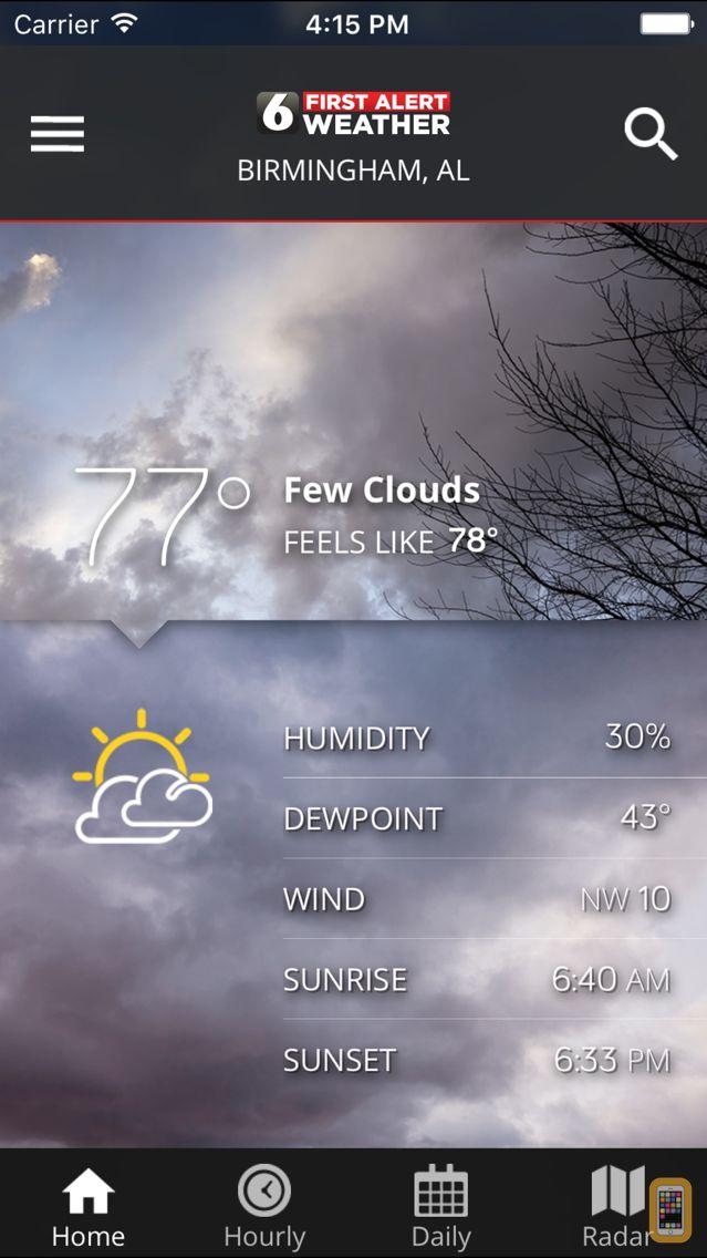 Screenshot - WBRC First Alert Weather
